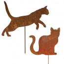 hurtownia Mieszkanie & Dekoracje: Metalowy wtyk cat Felino wysokość 125cm, stal